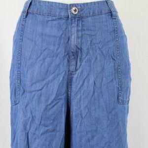 Style&Co Blue Wide Leg Crop Pants Size 18W